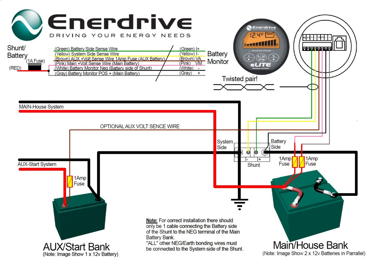 hight resolution of enerdrive battery monitor connections