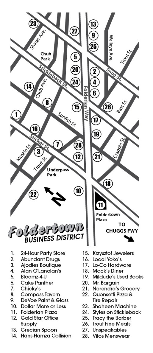 Foldertown Shopper's Guide, page 3