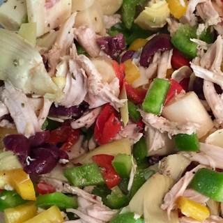 Greek Chicken Salad Fridge to Fork
