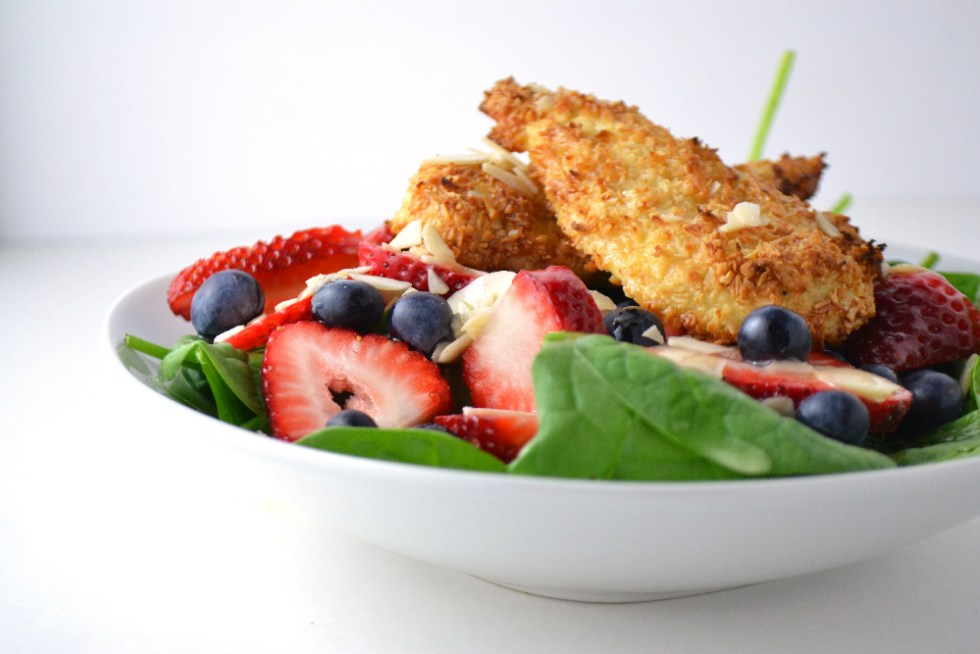 Coconut Chicken Tender Salad (Whole30 + Paleo) - Fridge to Fork