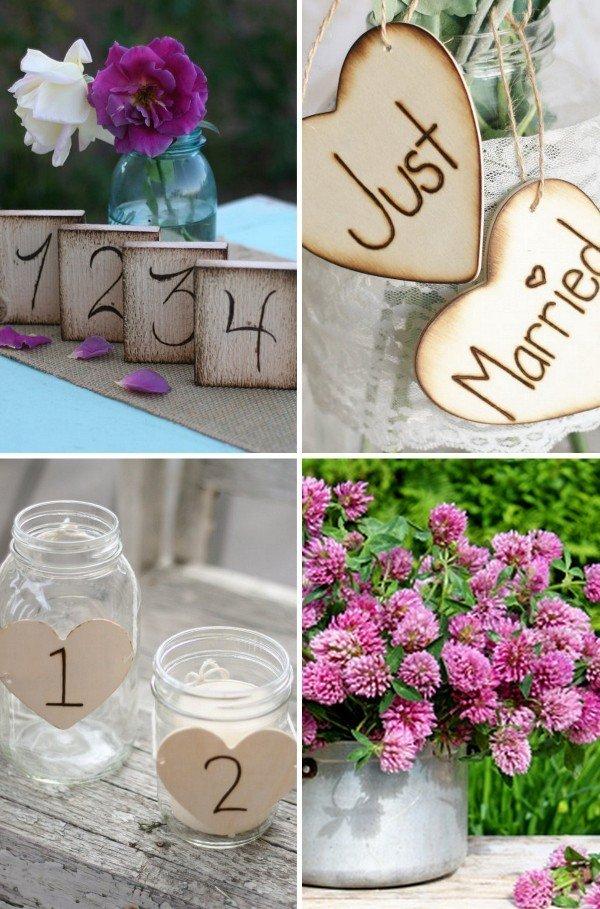 Holzdeko fr die Hochzeit grne Hochzeit Holzdekoration