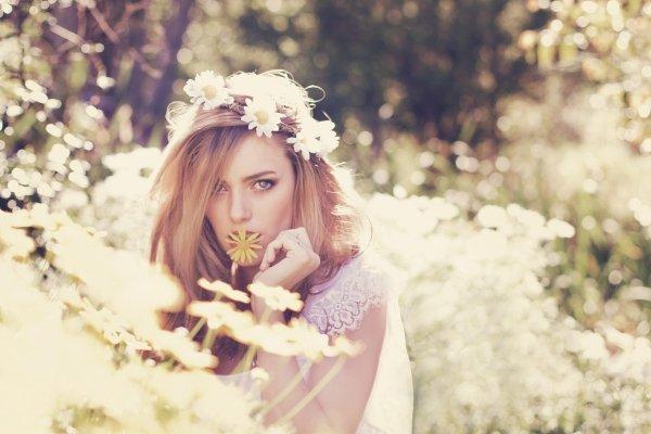 Traumhafte Haarkrnze aus Blumen fr die echte Hippie Braut