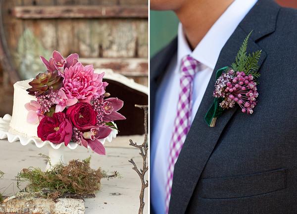 Herbstliche Hochzeitsdeko in schnsten Beerenfarben