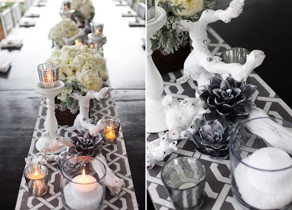 Sukkulenten fr die Hochzeit in Silber  Friedatherescom