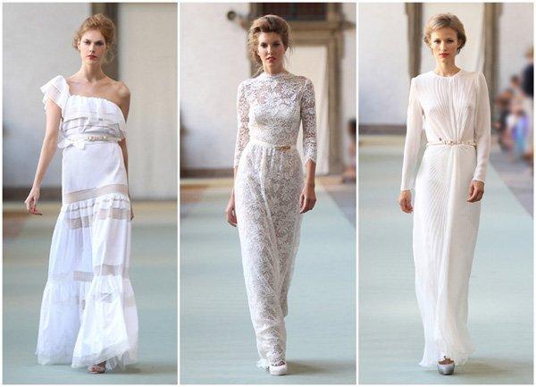Tolle Alternativen zum weien Brautkleid