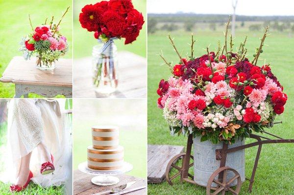 Blumendeko Hochzeit Rot