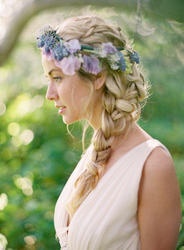 Haarkranz Blumen Hochzeit
