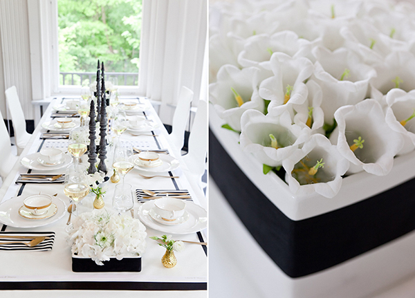 Ein atemberaubendes Style Shooting fr eine Hochzeit in Schwarz Wei und Gold  Friedatherescom