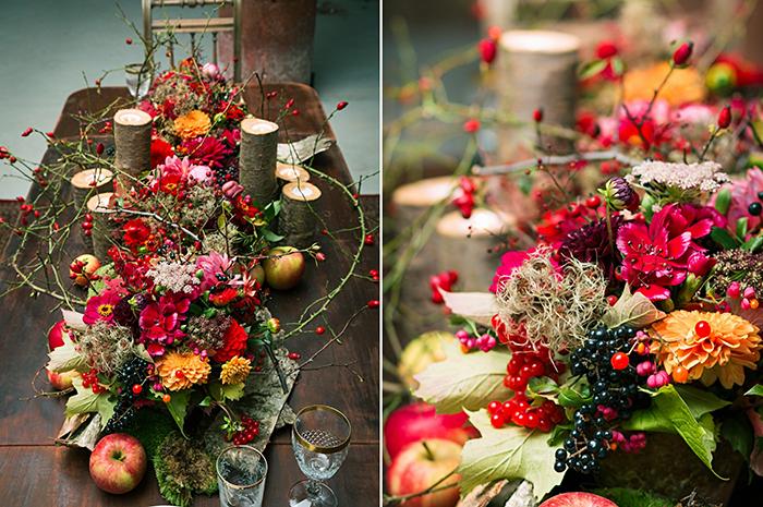 Inspiration fr eine Herbsthochzeit in Rot  Friedatherescom