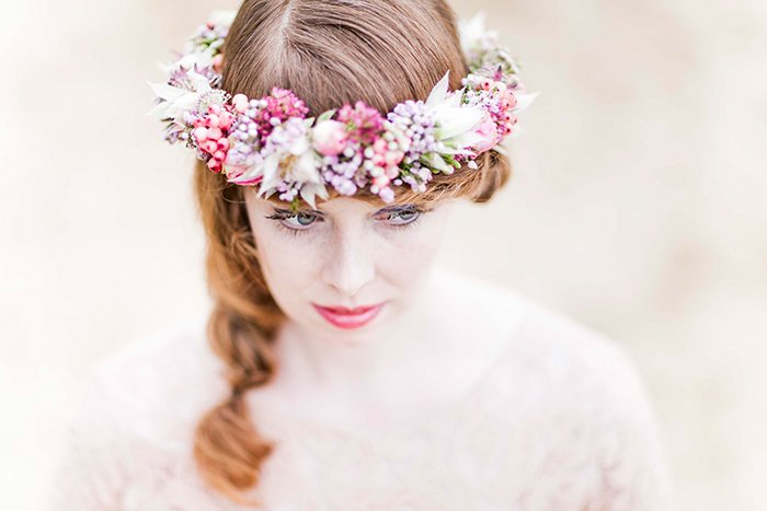 Blumenkrnze fr die Braut fr den Winter
