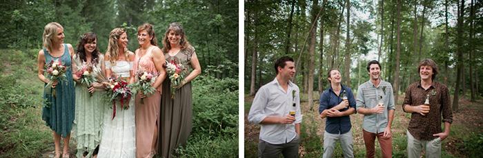 Eine romantische Hochzeit im Wald