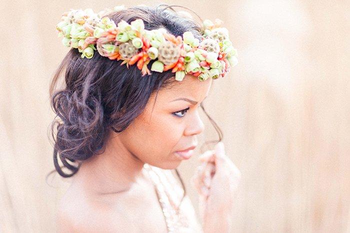 Haarkrnze aus echten Blumen fr die Hochzeit