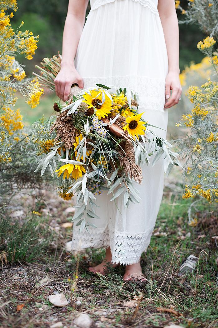 Brautstrau mit Sonnenblumen