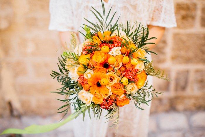 Brautstrauss orange