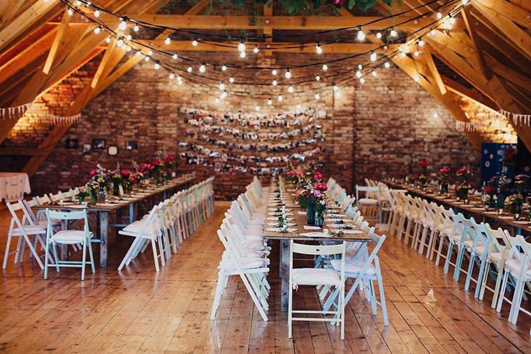 Lichterketten Deko fr die Hochzeit