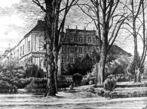 Oranienburg (Druck nach einer Federzeichnung von Ernst Meyer 1925)