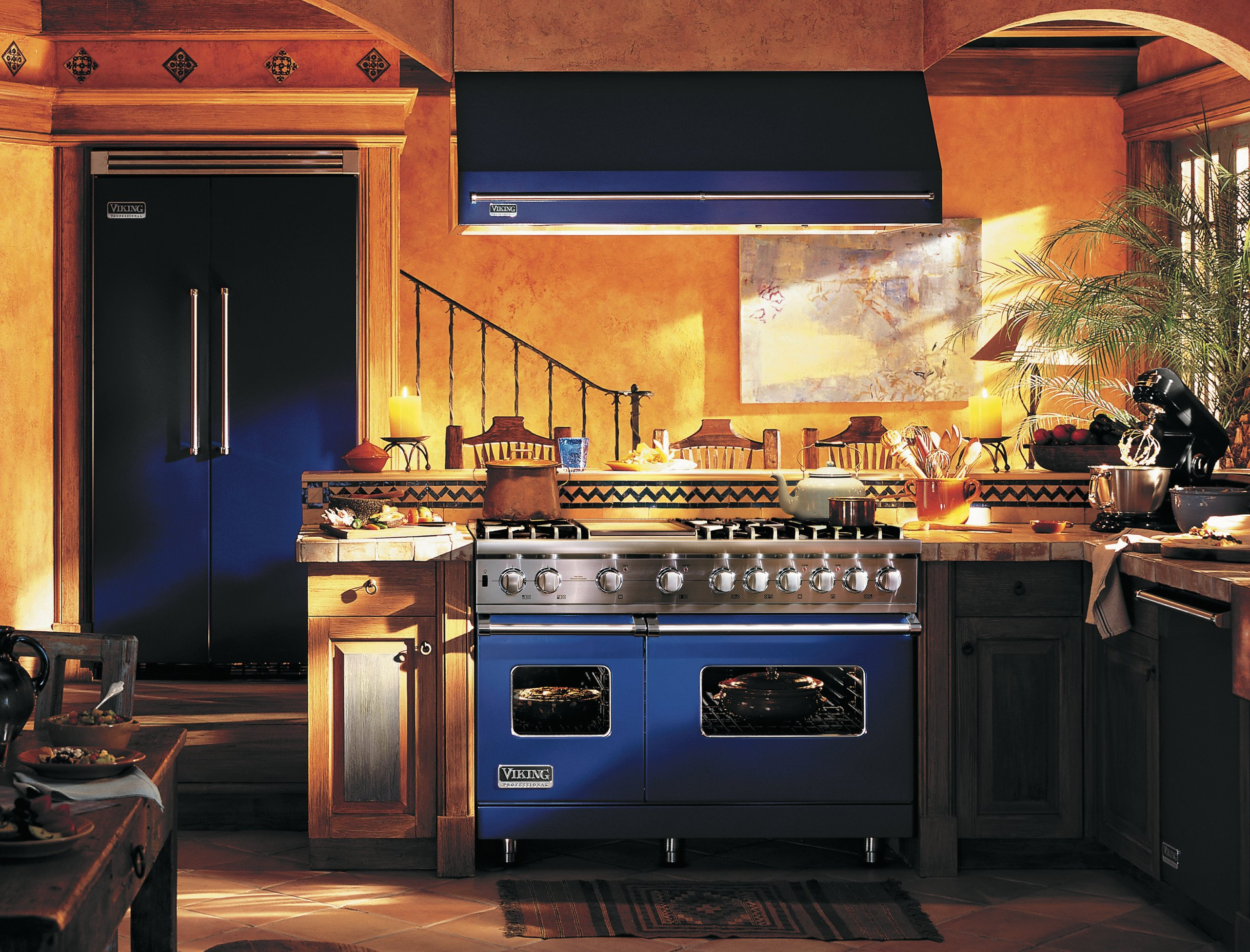 blue kitchen appliances menards faucets personalize your with color  friedman 39s ideas and