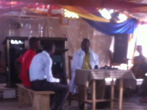 Skit about HIV care at Kpotame church