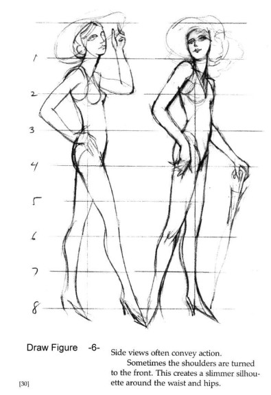 Pinkmeister's Drawing Lessons, Draw Human Figure Step by Step