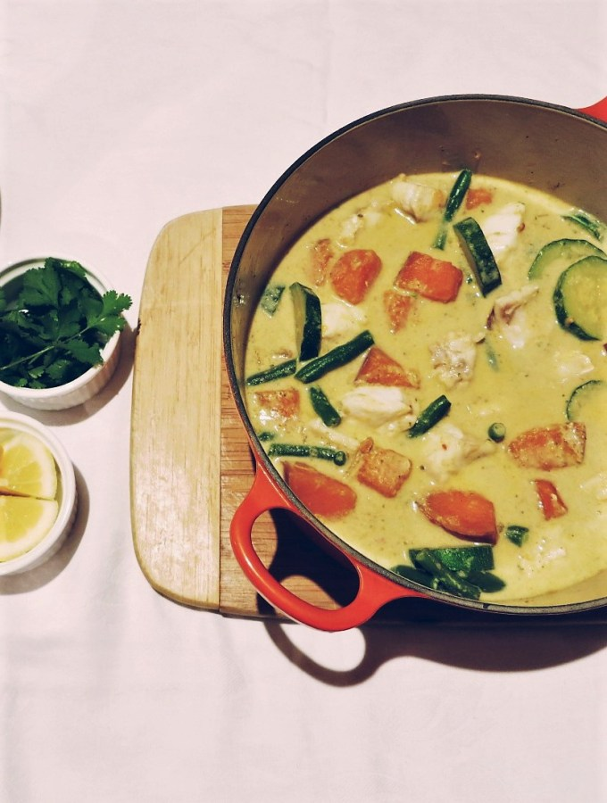 Low-Fodmap Thai Red Fish Curry