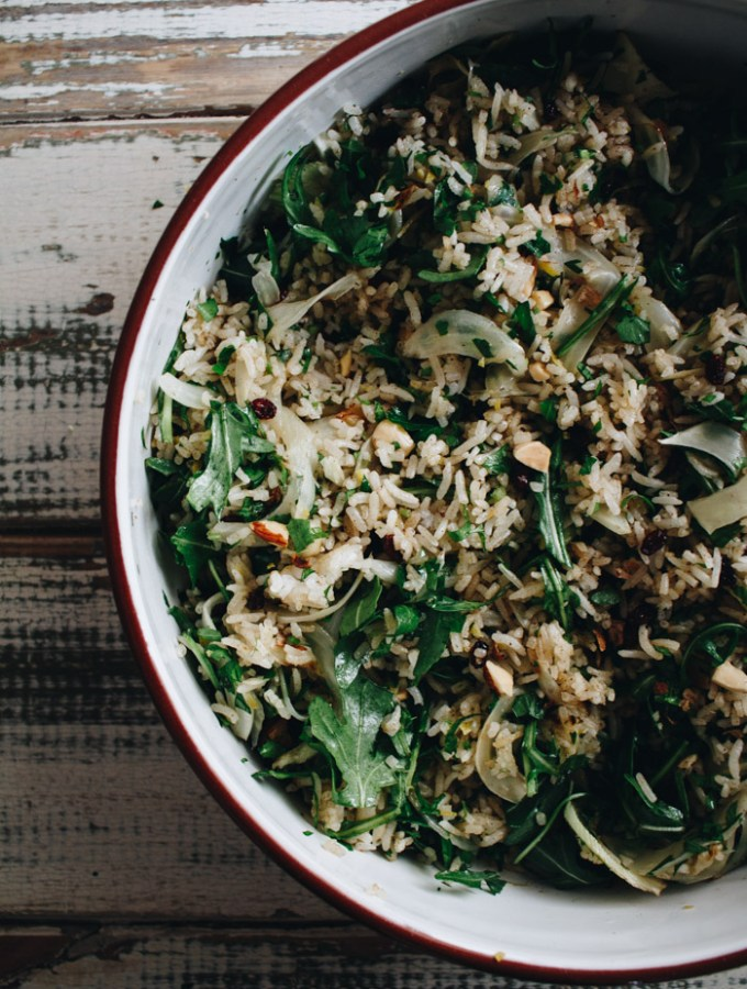 Coconut and Herb Rice Salad with Caramelised Fennel