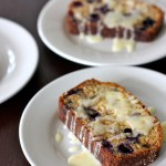 Blueberry Walnut Amish Friendship Bread with Lemon Glaze