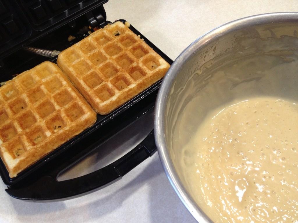 Amish Friendship Bread Waffles by Paula Altenbach | friendshipbreadkitchen.com