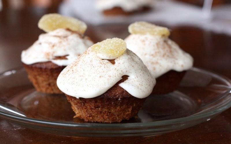 Persimmon Spice Amish Friendship Bread Cupcakes