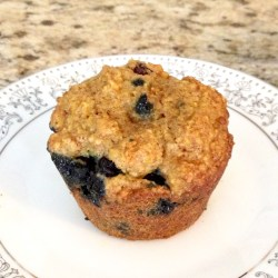 Blueberry Oat Bran Amish Friendship Bread Muffins