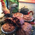 Double Chocolate Chip Coconut Amish Friendship Bread Muffins