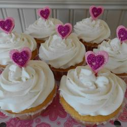 Raspberry Cream Filled Lemon Amish Friendship Bread Cupcakes