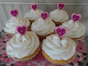 Raspberry Cream Filled Lemon Friendship Cupcakes
