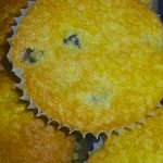 White Chocolate Blueberry Corn Amish Friendship Bread Muffins