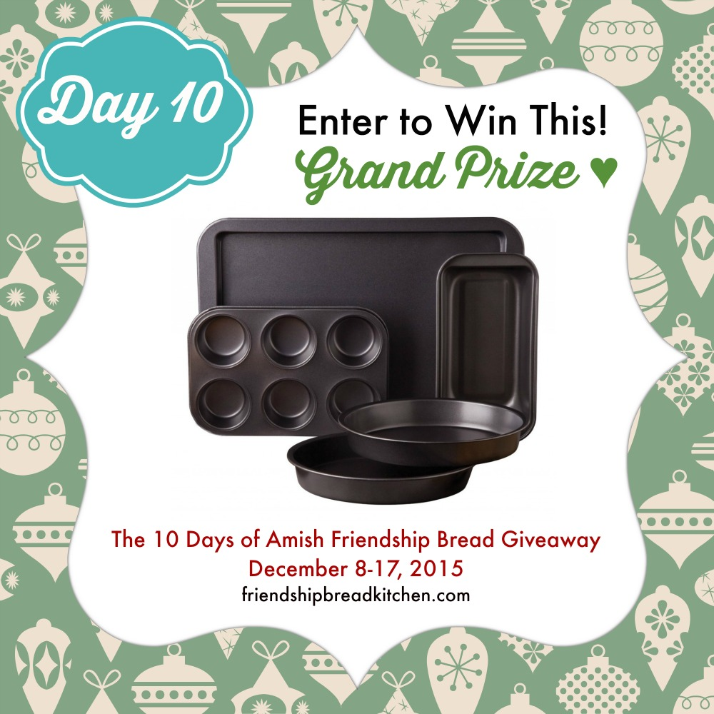 Baking blog giveaways with few entries