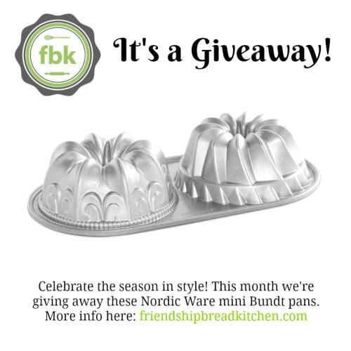 December 2016 Giveaway Mini Bundt Pans | friendshipbreadkitchen.com