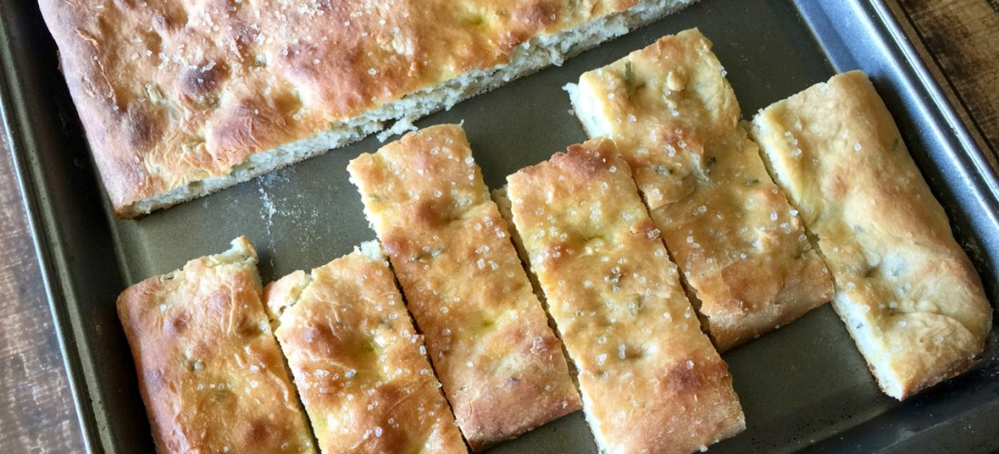 Amish Friendship Bread Rosemary Focaccia
