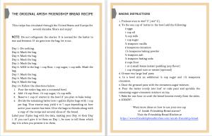 Amish Friendship Bread Instructions   friendshipbreadkitchen.com
