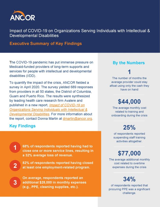 Impact of COVID-19 on Organizations Serving Individuals with Intellectual & Developmental Disabilities