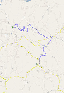Clovis to Auberry - 25 miles - 60 minutes