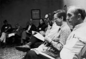 A discussion group at the 1992 FNCL Annual Meeting