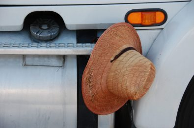 hat on a truck, Betty Guthrie