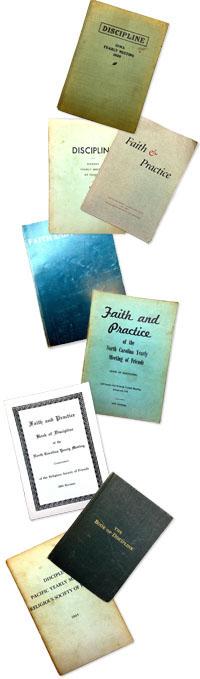 Assorted twentieth-century books of Disciplines.