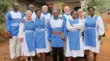 Hudson, Rosemary, Antoine, Aline, Peter, Guillaume, Mkoko (in back), Mark, Rose, Lynne, Sarah.