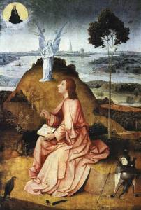 St John the Evangelist on Patmos, by Hieronymous Bosch, circa 1489.