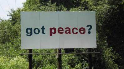 "Billboard: ""got peace?"""