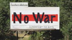 "Billboard: ""No War"""