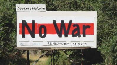 "Billboard: ""No War"""