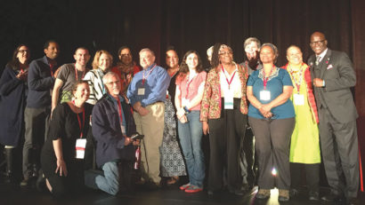 The Philadelphia host committee featured many representatives from Quaker organizations.