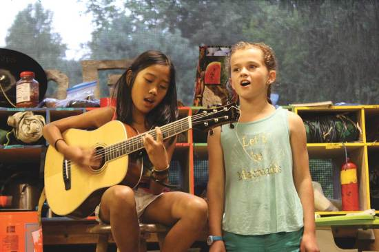 """Campers showcase their musical talents in the annual """"Sing-Em Up"""" event."""