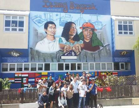 Mural produced by 67 Suenos, an AFSC youth leadership program in San Francisco, at the San Francisco International High School. ©Pablo Paredes.